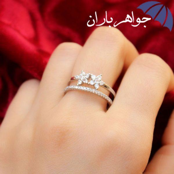 انگشتر نقره زنانه طرح ستاره