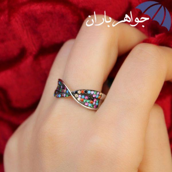 انگشتر نقره زنانه طرح پاپیون