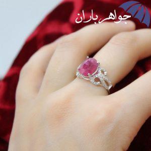 انگشتر یاقوت سرخ اصل زنانه