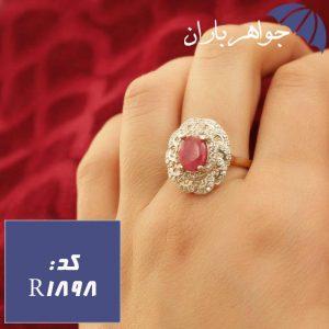 انگشتر یاقوت سرخ اصل رودیوم