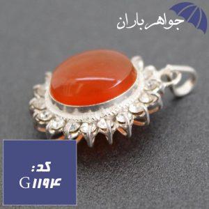 گردنبند عقیق یمنی اصل دور جواهری