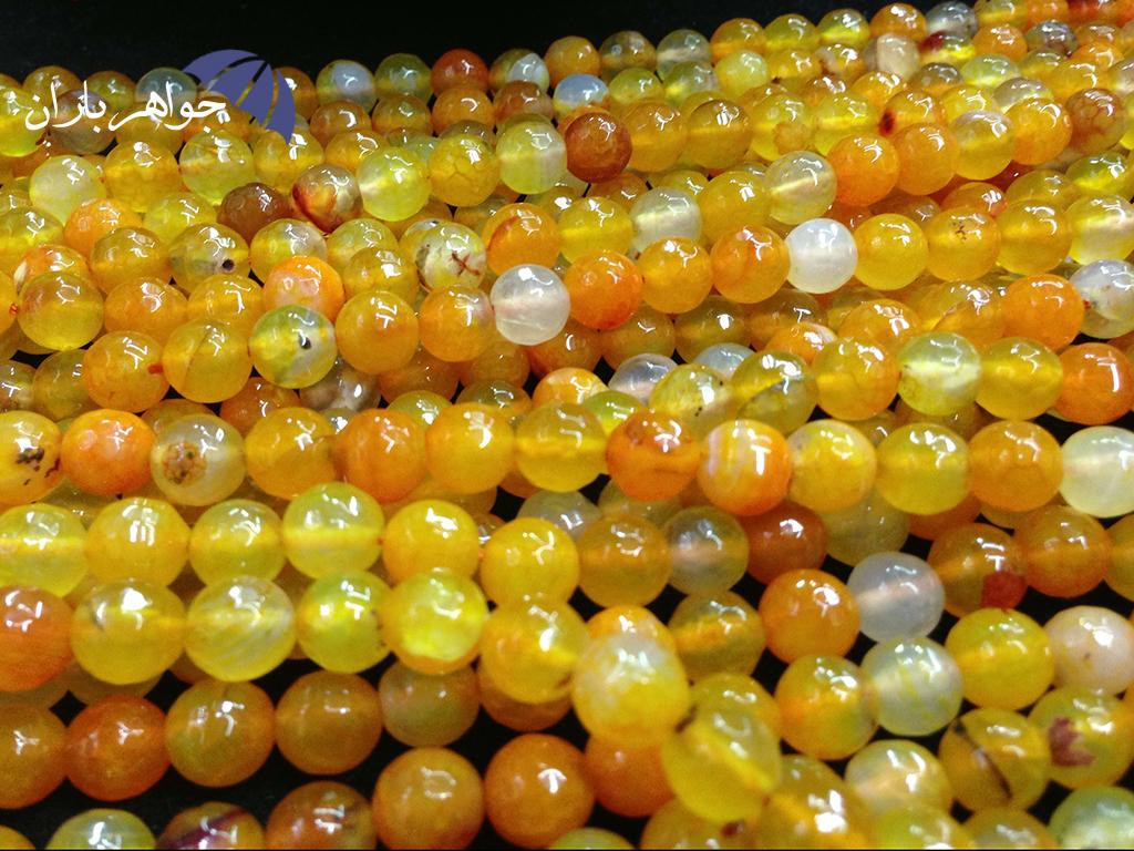 رنگ درمانی با سنگ های زرد رنگ