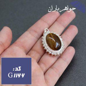 گردنبند چشم ببر دور جواهری دست ساز