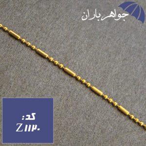 زنجیر استیل طلایی 45 سانت طرح نقطه خط