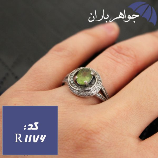 انگشتر زبرجد سبز زنانه خوشرنگ