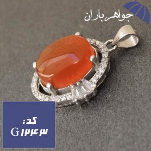 گردنبند عقیق یمنی اصل دور جواهری زنانه