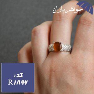 انگشتر عقیق یمنی اصل زنانه مدل پرنس