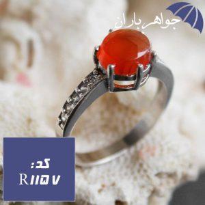 انگشتر عقیق یمنی خوشرنگ