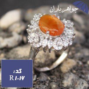 انگشتر عقیق یمنی شرف الشمس زنانه