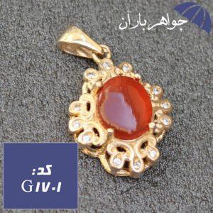 گردنبند طلاروس عقیق یمنی اصل